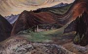 Emily Carr Village in the hills china oil painting artist